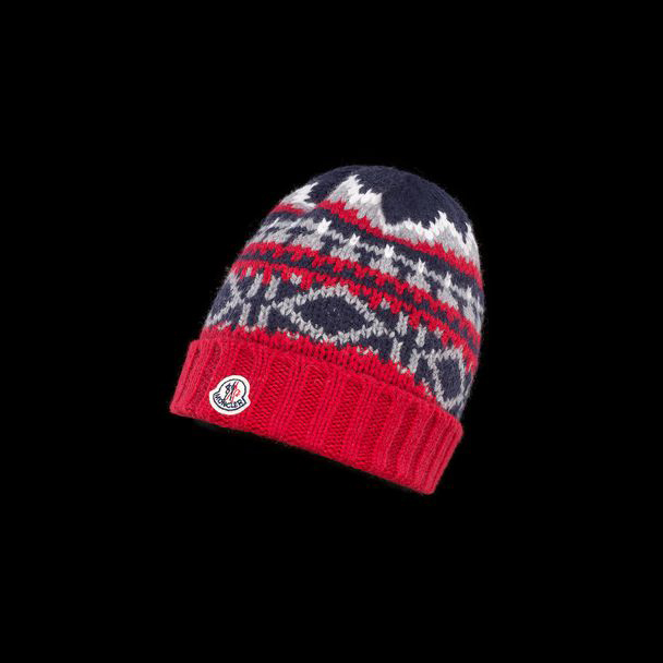 cheap MONCLER ENFANT Child HAT  red sale