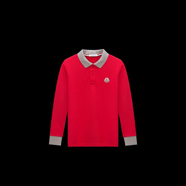 cheap MONCLER ENFANT Child POLO  red sale