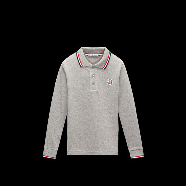 cheap MONCLER ENFANT Child POLO  light grey sale