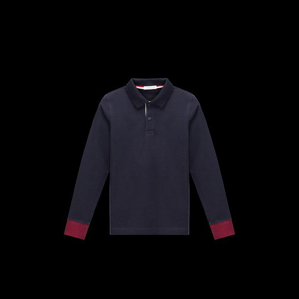 cheap MONCLER ENFANT Child POLO dark blue sale