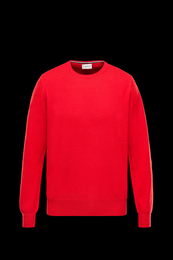 cheap MONCLER Men CREWNECK red sale