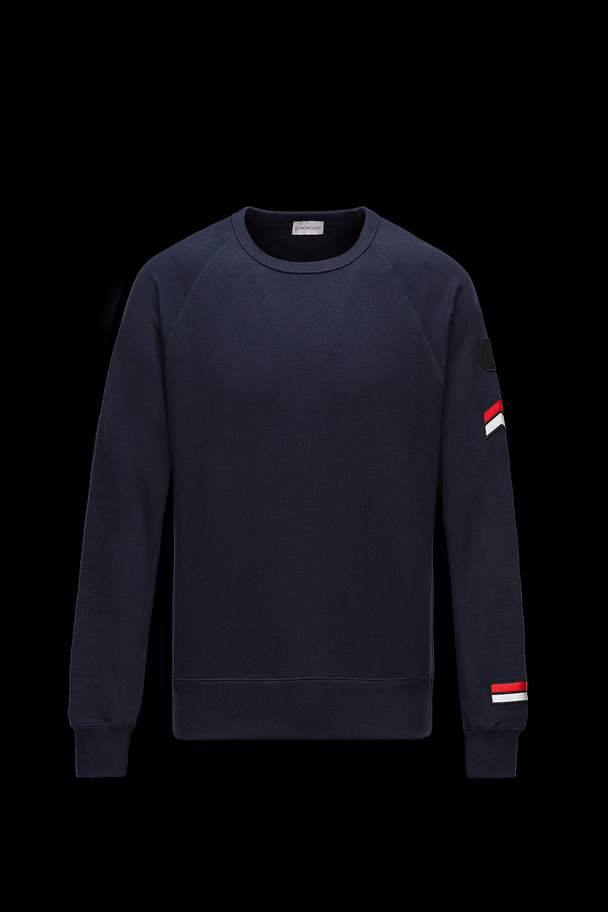 cheap MONCLER Men SWEATSHIRT dark blue sale
