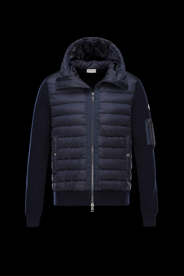cheap MONCLER Men CARDIGAN blue sale