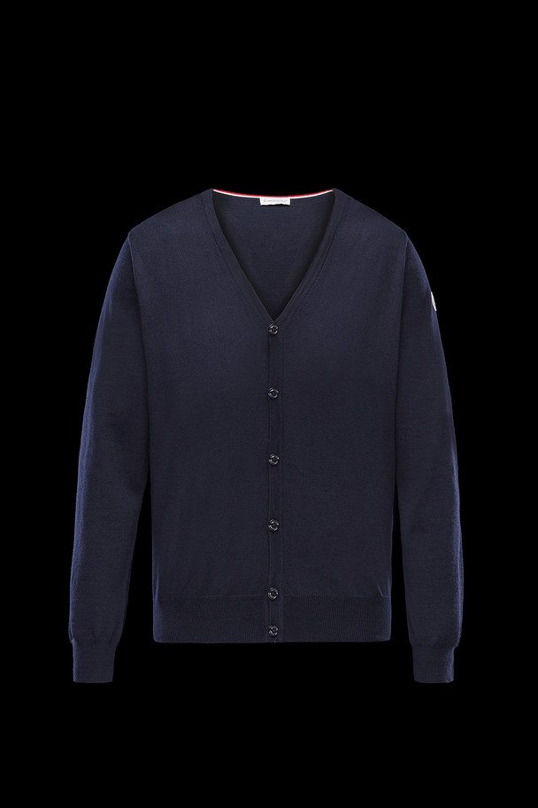 cheap MONCLER Men CARDIGAN dark blue sale