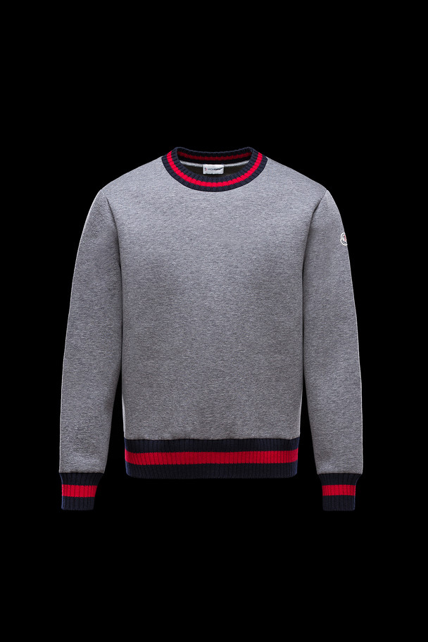 cheap MONCLER Men SWEATSHIRT grey sale