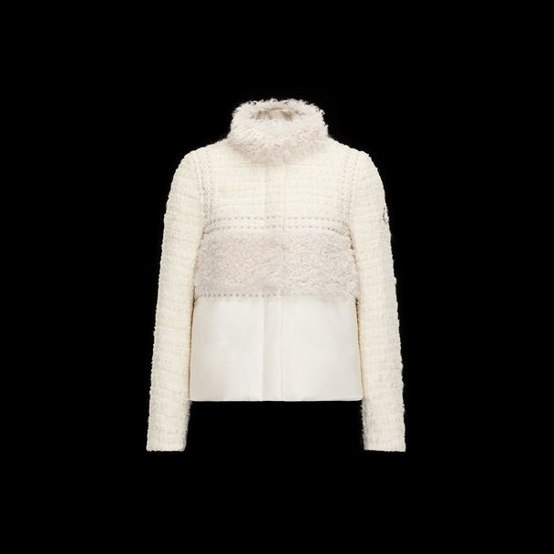 cheap MONCLER GAMME ROUGE Women VIORNE ivory sale