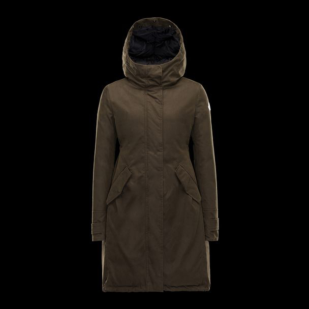 cheap MONCLER Women EVANTHIA dark green sale