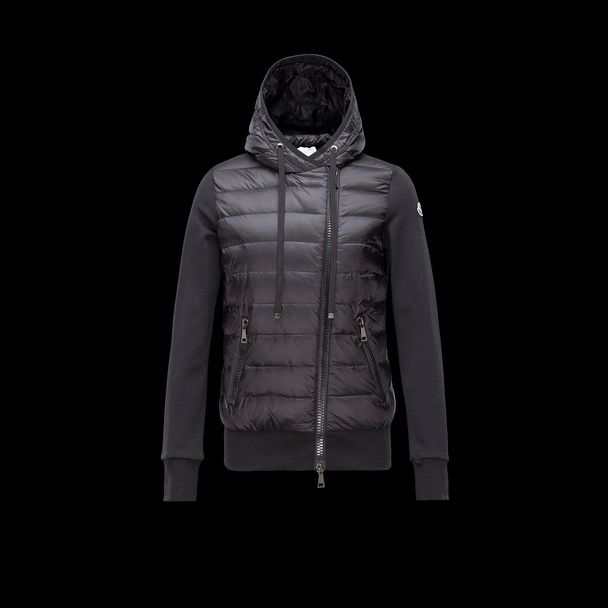 cheap MONCLER Women SWEATSHIRT  black sale