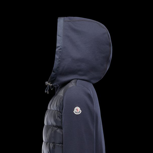 cheap MONCLER Women SWEATSHIRT dark blue sale