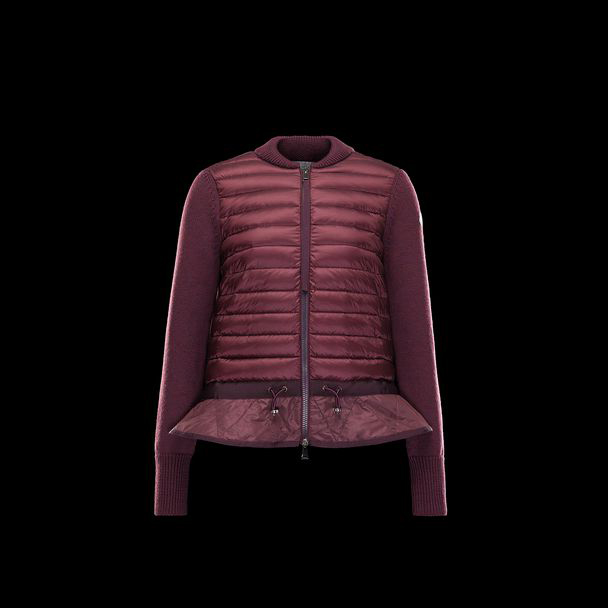 cheap MONCLER Women CARDIGAN maroon sale