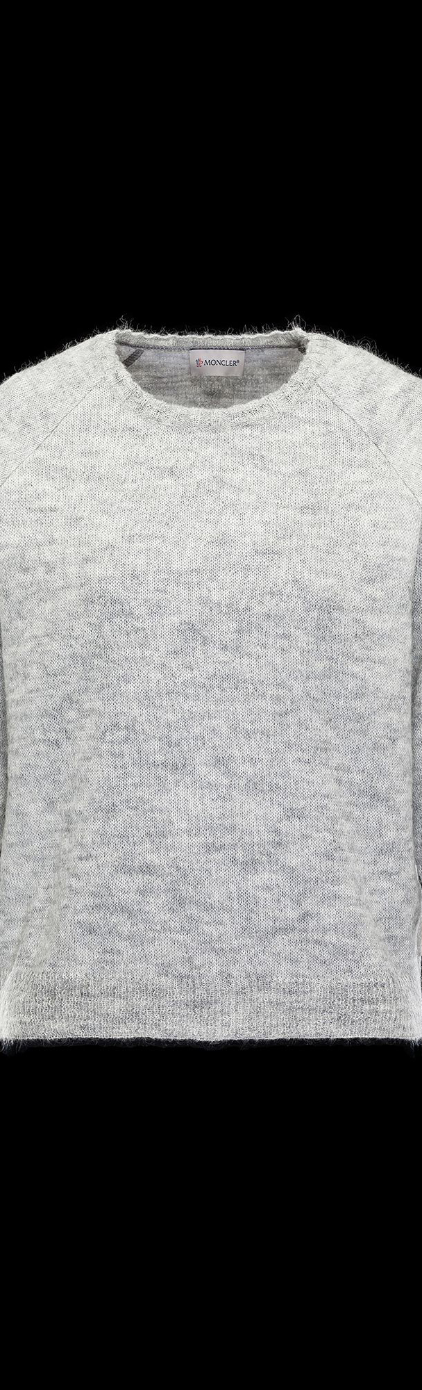 cheap MONCLER Women crewneck  light grey sale