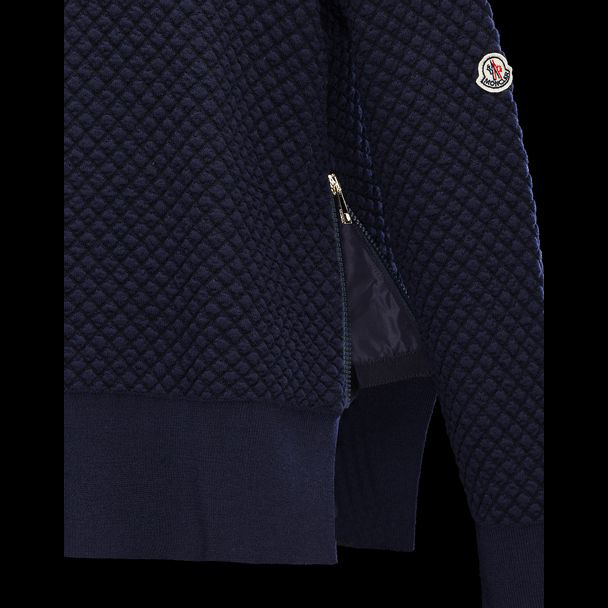 cheap MONCLER Women crewneck dark blue sale