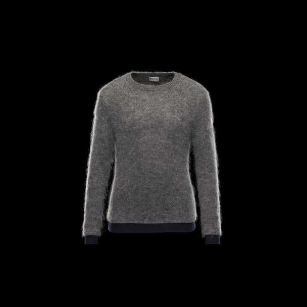 cheap MONCLER Women crewneck grey sale