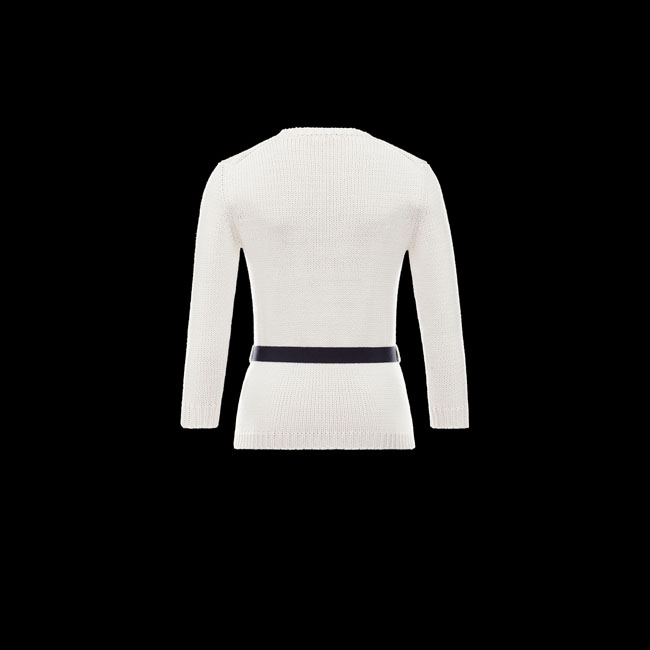 2016 Outlet Store - MONCLER WOMEN MAGLIA IVORY