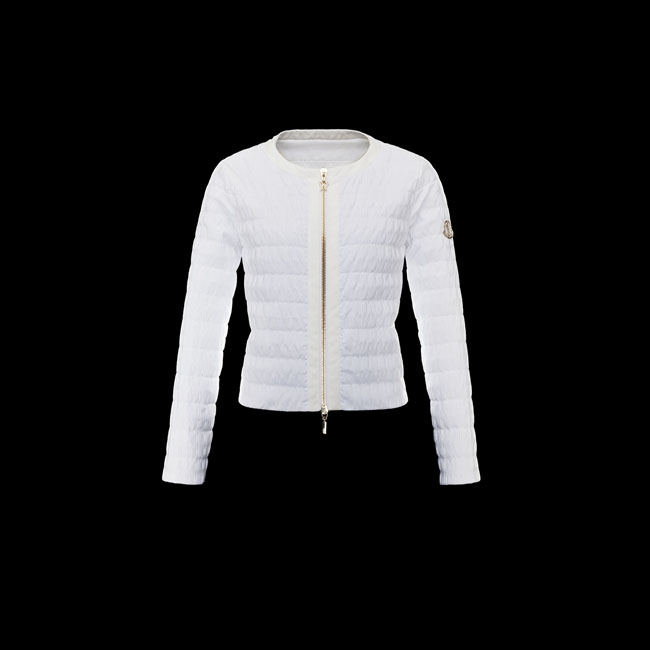 2016 Outlet Store - MONCLER WOMEN GAMME ROUGE Jacket WHITE