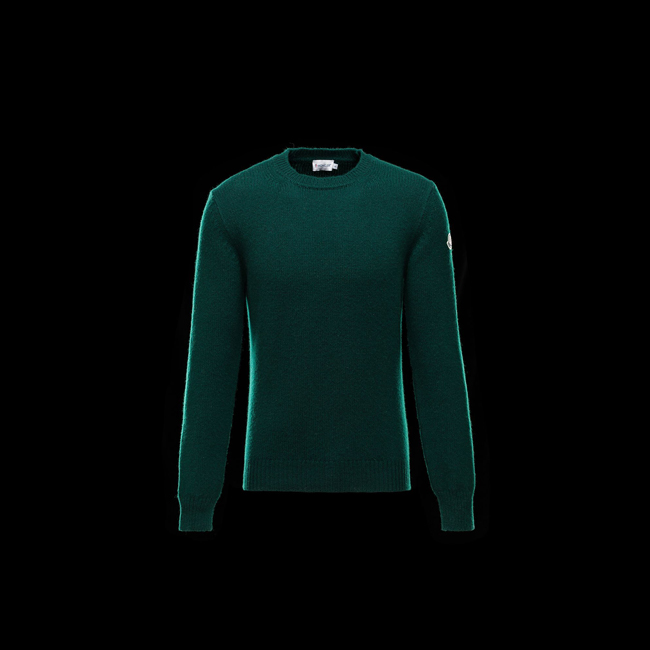 2016 Outlet Store - MONCLER MEN Crewneck sweater GREEN