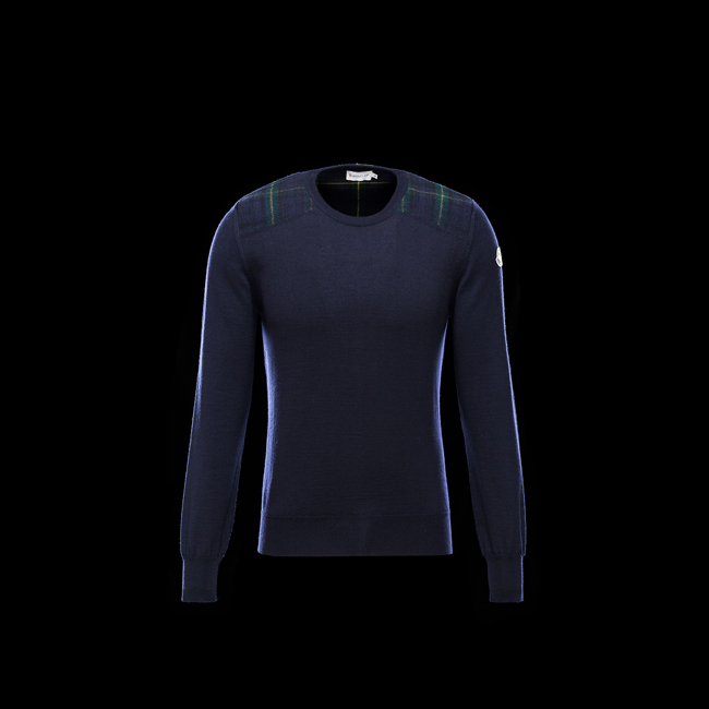 2016 Outlet Store - MONCLER MEN Crewneck sweater BLUE