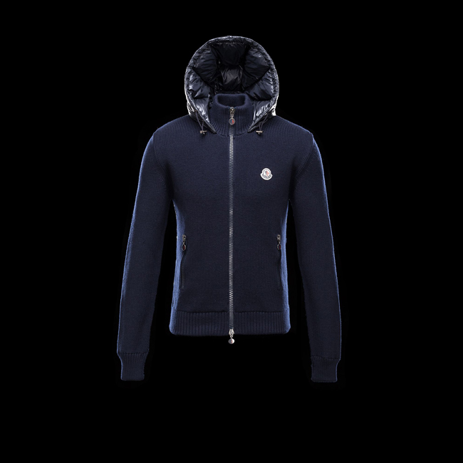2016 Outlet Store - MONCLER MEN Cardigan BLUE