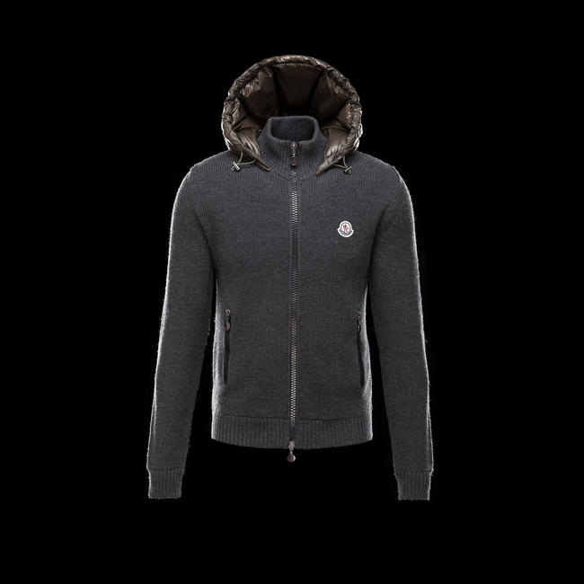 2016 Outlet Store - MONCLER MEN Cardigan MILITARY GREEN