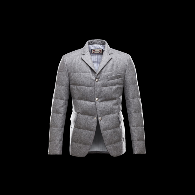 2016 Outlet Store - MONCLER MEN GAMME BLEU Overcoat GREY