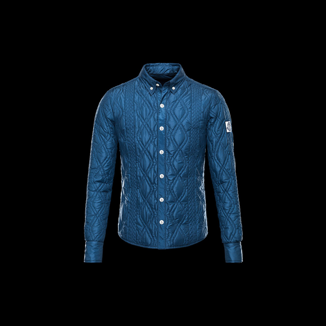 2016 Outlet Store - MONCLER MEN GAMME BLEU Long sleeve shirt SLATE BLUE