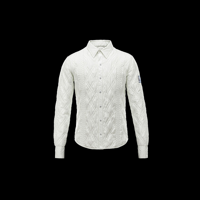 2016 Outlet Store - MONCLER MEN GAMME BLEU Long sleeve shirt LIGHT GREEN