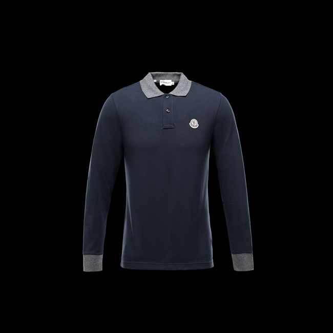 2016 Outlet Store - MONCLER MEN Polo shirt BLUE