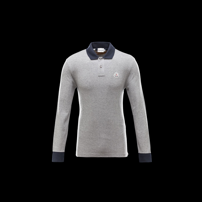 2016 Outlet Store - MONCLER MEN Polo shirt LIGHT GREY
