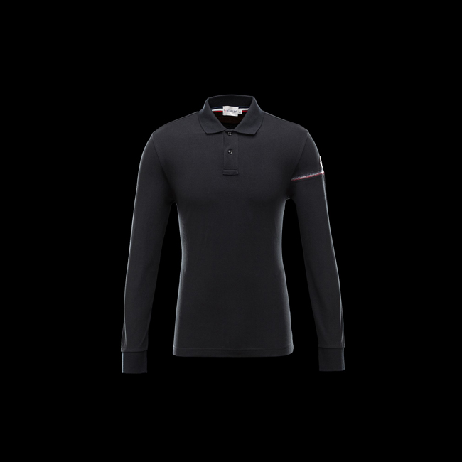 2016 Outlet Store - MONCLER MEN Polo shirt BLACK