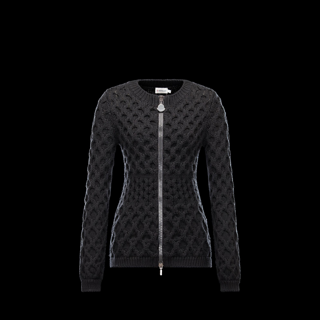2016 Outlet Store - MONCLER WOMEN Cardigan BLACK