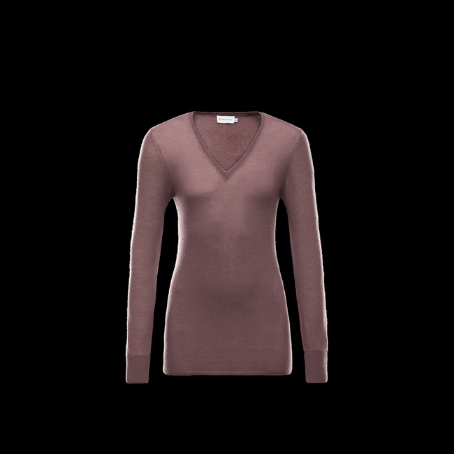 2016 Outlet Store - MONCLER WOMEN Cashmere sweater DOVE GREY