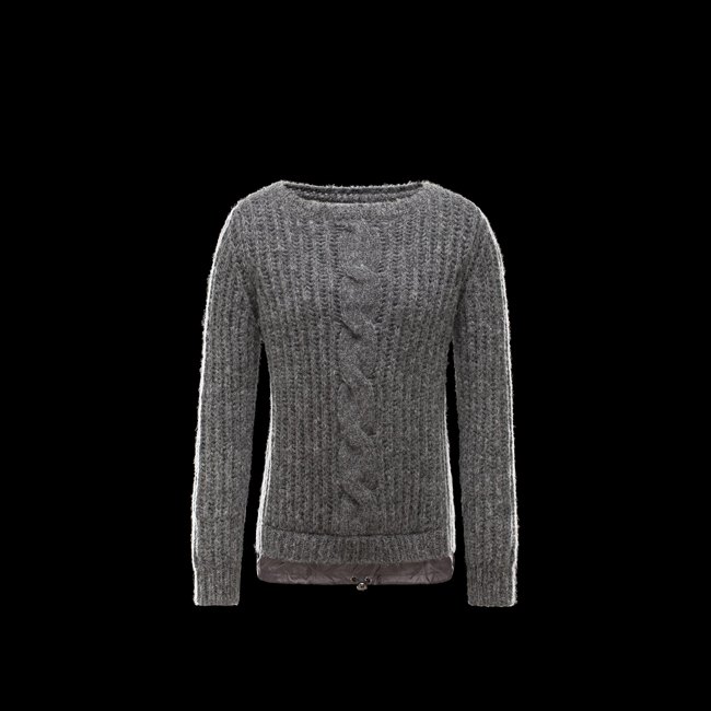 2016 Outlet Store - MONCLER WOMEN Long sleeve sweater GREY