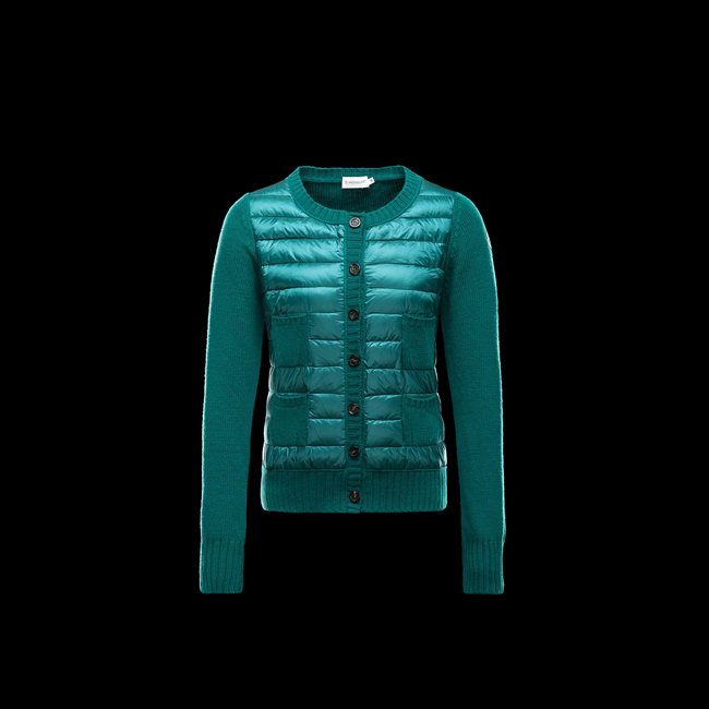 2016 Outlet Store - MONCLER WOMEN Cardigan EMERALD GREEN