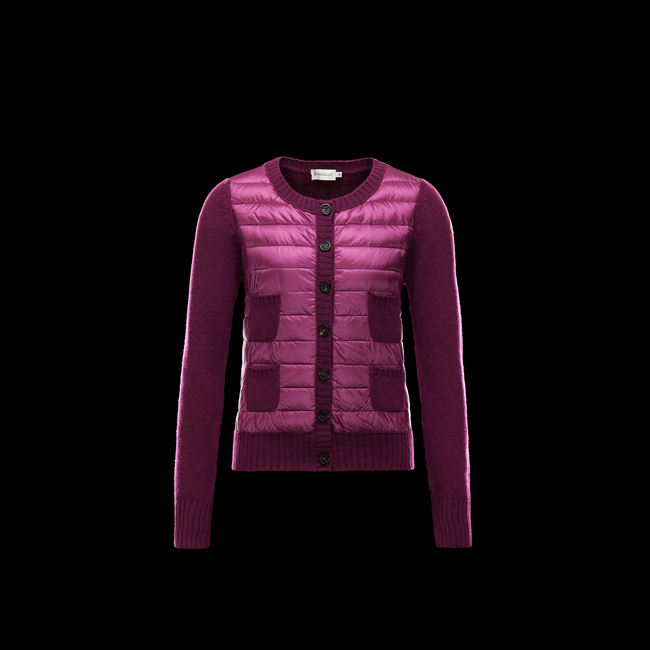 2016 Outlet Store - MONCLER WOMEN Cardigan PURPLE