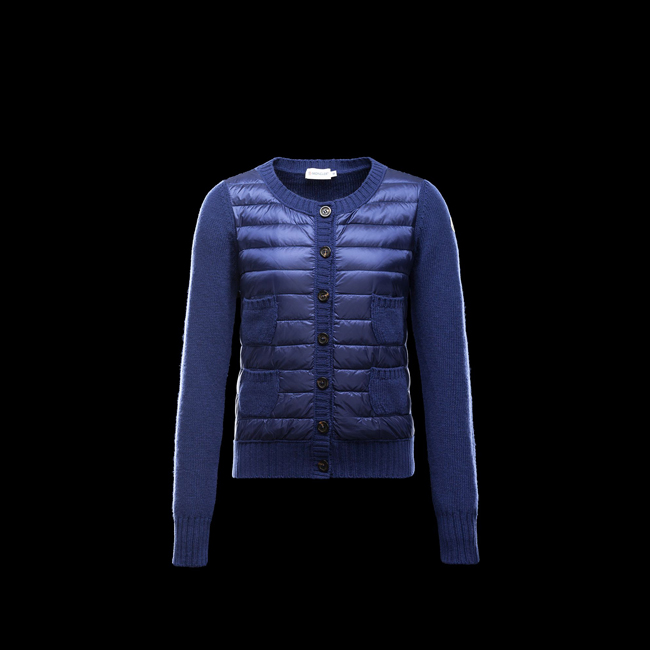 2016 Outlet Store - MONCLER WOMEN Cardigan BRIGHT BLUE