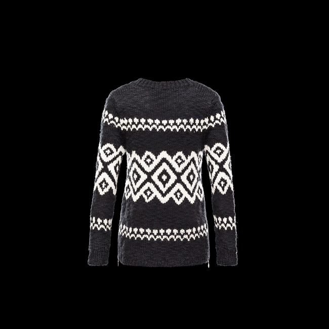 2016 Outlet Store - MONCLER WOMEN Long sleeve sweater BLACK