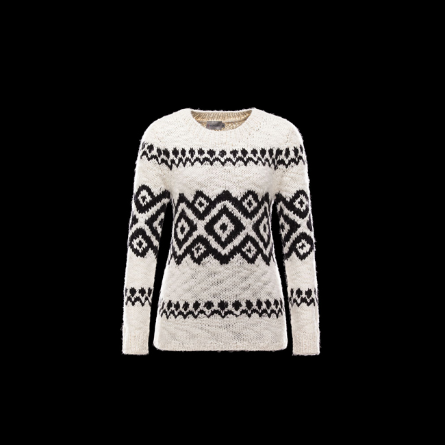 2016 Outlet Store - MONCLER WOMEN Long sleeve sweater IVORY