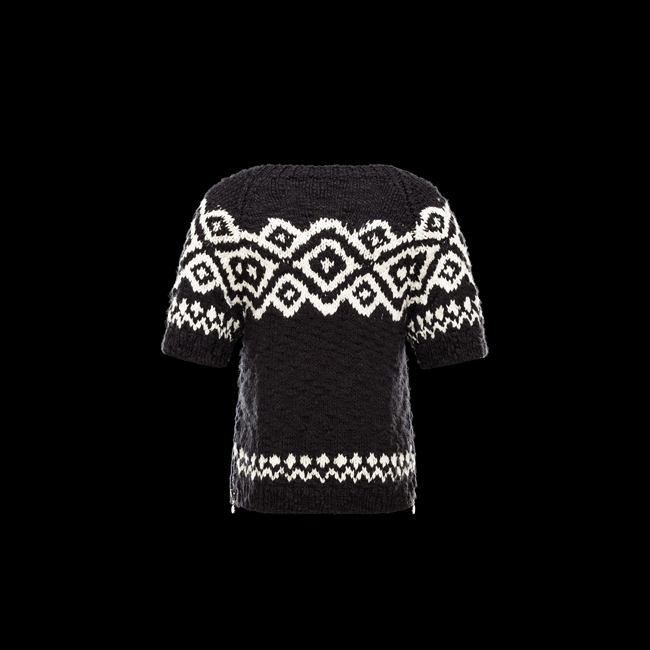 2016 Outlet Store - MONCLER WOMEN Short sleeve sweater BLACK