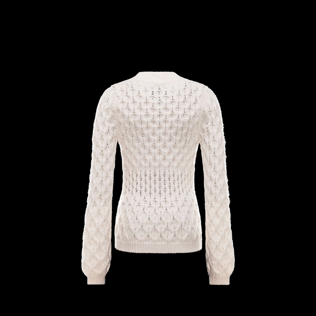 2016 Outlet Store - MONCLER WOMEN Cardigan WHITE