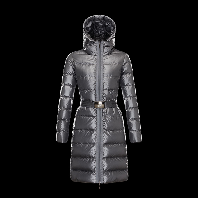 2016 Outlet Store - MONCLER WOMEN NANTESFUR STEEL GREY